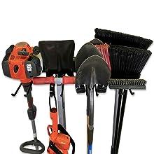 BLAT tool rack storage wall broom shovel rake trimmer power yard garden hose extension cord rope #1