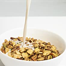 keto granola with milk