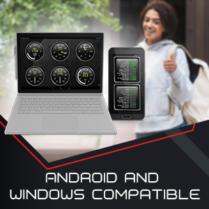 BAFX Products Bluetooth OBDII (OBD2) Reader / Scanner for Android or Windows - photo of smartphone