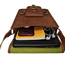 Genuine Handmade Vintage Leather Satchel Travel Messenger Sling Crossbody Bag Gift for Men Women