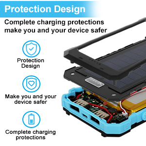 iphone solar charger portable solar power bank solar battery charger for cell phone camping