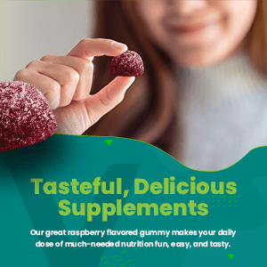Our great raspberry flavored gummy makes your daily dose of much-needed nutrition fun easy and tasty
