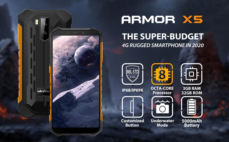 ulefone armor x5 rugged phones