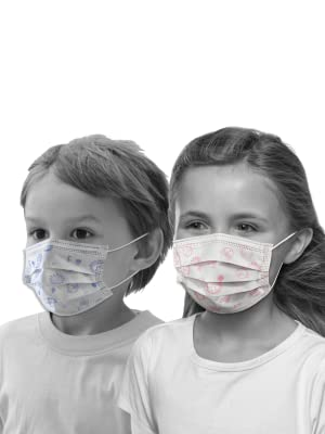 visual of kids disposable animal face mask