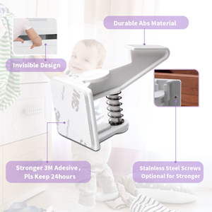 Baby Safety Cabinet Locks white