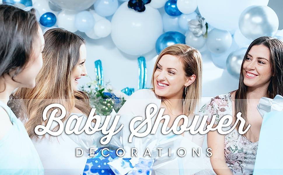 baby shower balloon garland blue balloons blue garland
