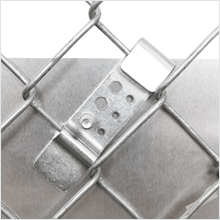 Handicapped and Reserved Parking, Heavy-duty Aluminum Signs, Chain Link Fence Clips