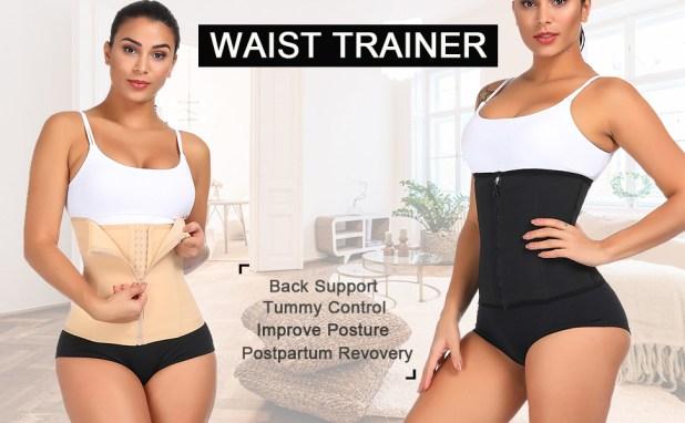 waist cincher double control waist cincher  waist trainer belt body shaper belly wrap