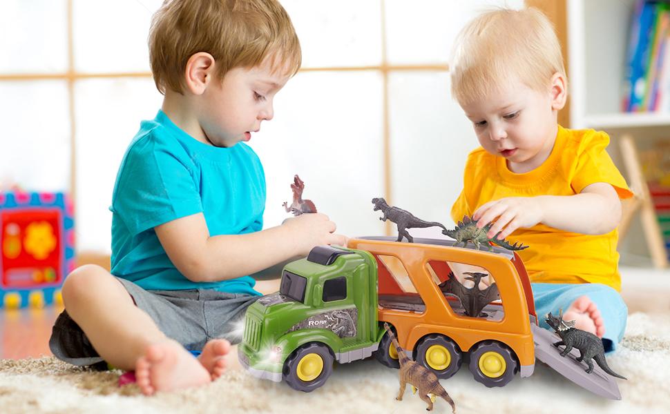 Dinosaur Truck Set Tyrannosaurus Toy