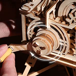mechanical wooden models