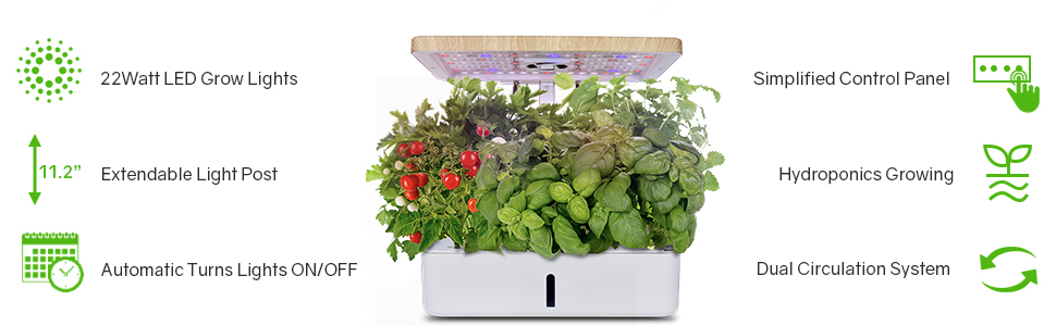 Indoor Gardening Plant Kit with LED Plant Grow Light