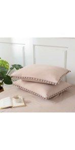 Taupe Pom Poms Pillowcases