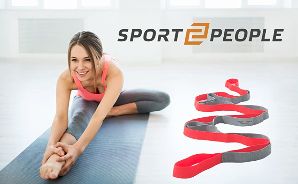 Become stronger, fitter, more flexible with sport2people stretching strap