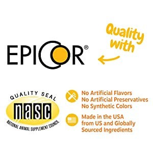 NASC Certification, Epicor branded ingedient, Made in the USA.