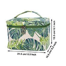 green leaves makeup bags