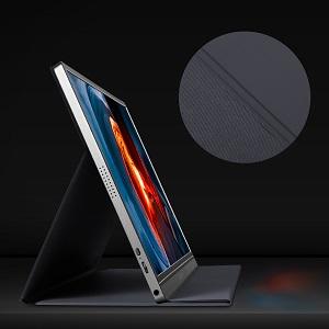 portable monitor with smart cover case stand