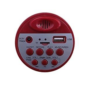 gadget wagon megaphone handheld siren alarm announcement pa system