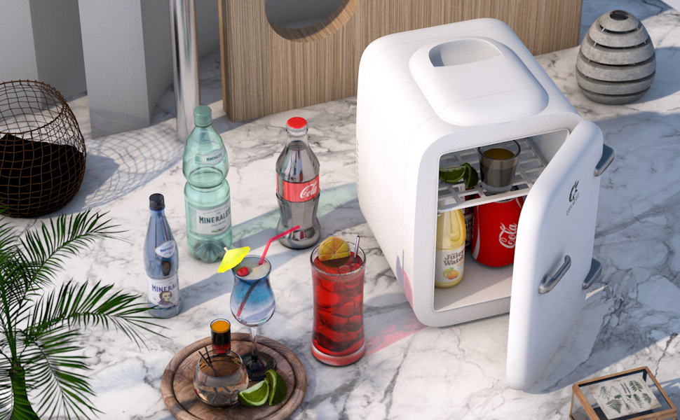 skincare fridge white