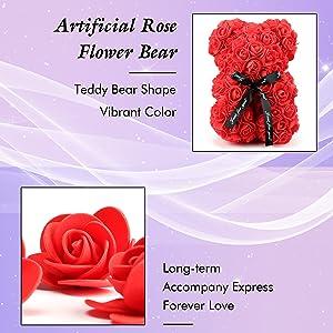 Rose Flower Bear