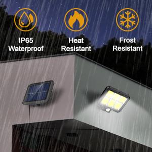 solar motion sensor light outdoor waterproof
