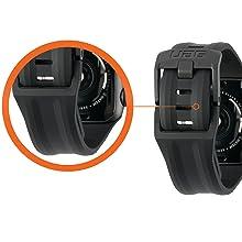 TUCK CLOSURE WATCH STRAP SCOUT BLACK RUGGED TOUGH SECURE SOFT SLIM SWEATPROOF CLASSIC WATCH BUCKLE