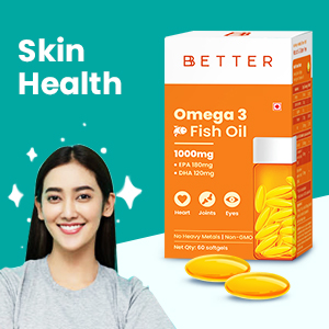 Omega 3 Fish Oil Supplement for glowing skin, Omega 3 Fatty Acid Capsule for women and skin