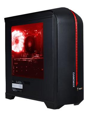 gamemax centauri red pc case chassi