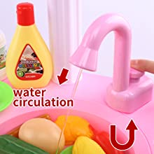 Children Make Stories by Playing with Kitchen Ware, Washing the Vegetables and Cooking Foods.