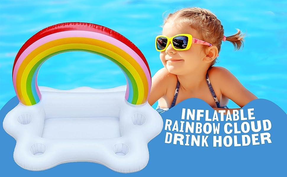 rainbow cloud drink holder