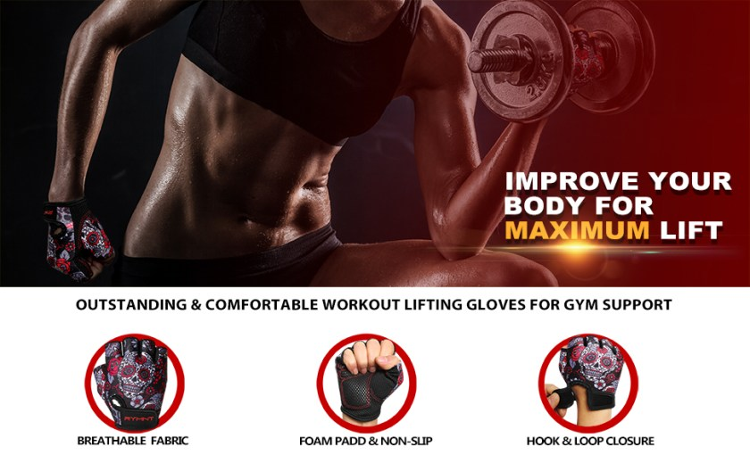 ZEROFIRE RYMNT Workout Gym Gloves for Women weight lifting
