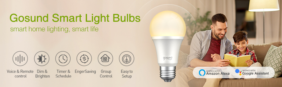 Gosund smart light bulbs