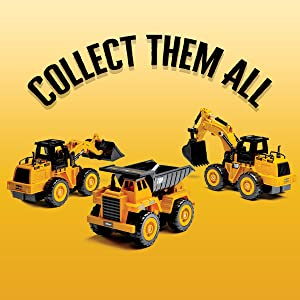 Cllect Them All, Excavator! Dump Truck! Front Loader!