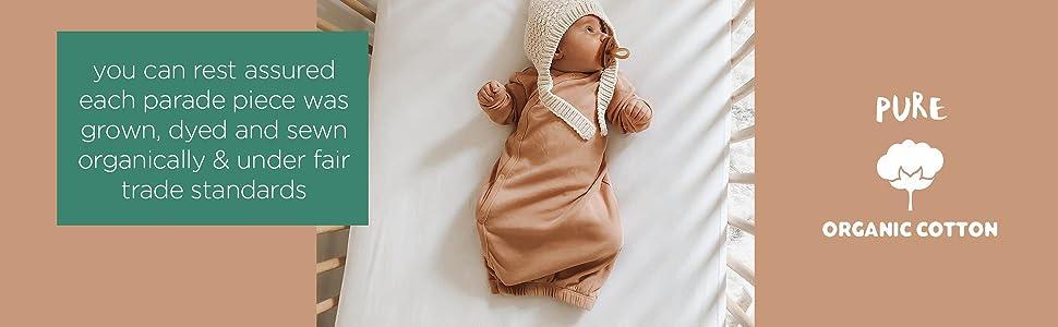 parade organics organic cotton baby gown baby nightgown sleepsac swaddle bundler romper newborn
