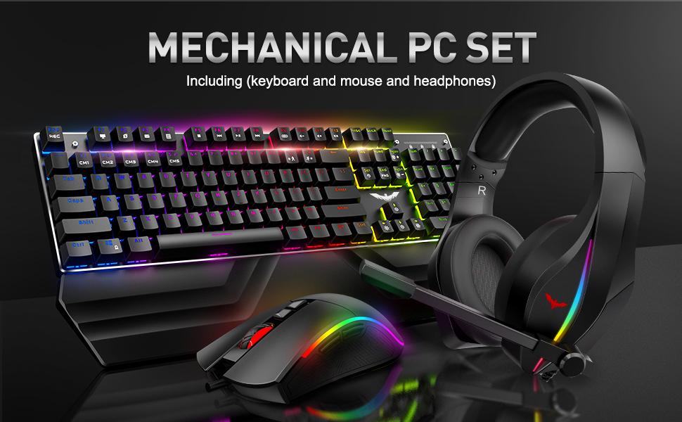 keyboard mouse headset set