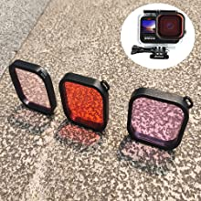 3 pcs of colorful Filter for Gopro9