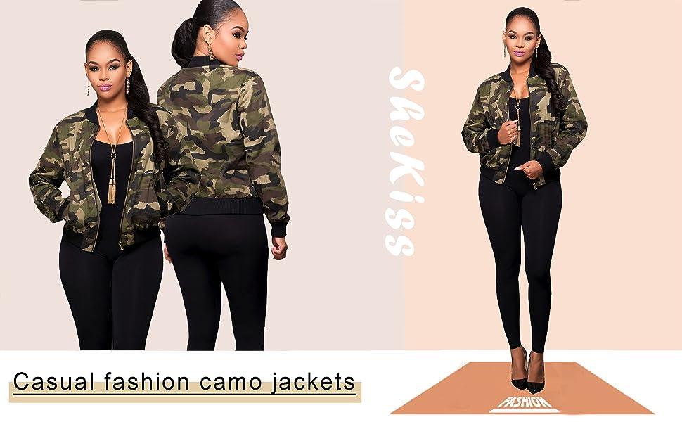 Casual fashion camouflage jacket