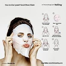 How to use Facial sheet Mask, Facial sheet Mask for Women, Facial sheet Mask, Masking Facial sheet