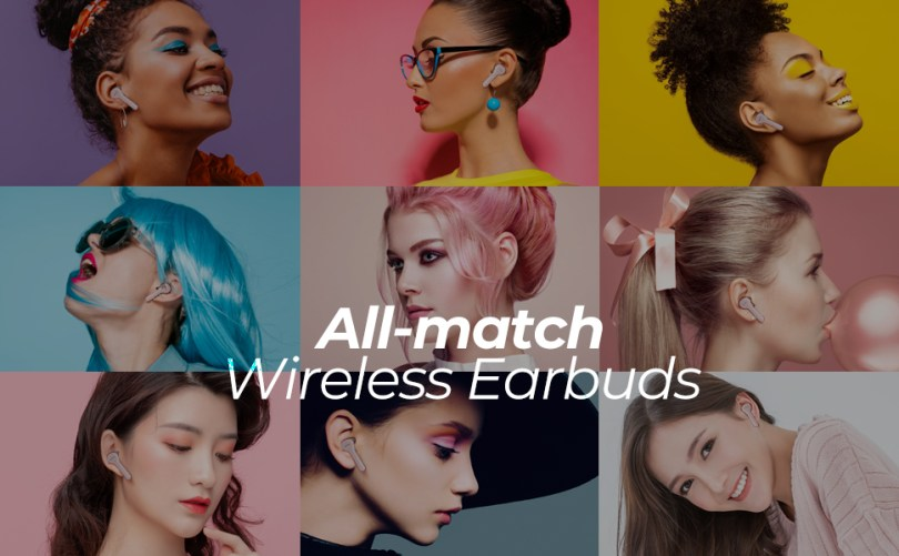 pink wireless bluetooth earbuds earphones for women girl mini airpods