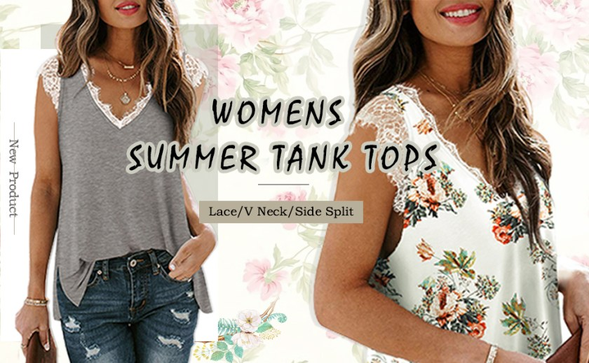 women's V-Neck tank tops