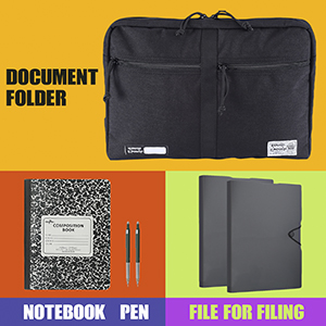 Document file folder organizer bag for notebook art school office supplies A4 paper file for filing