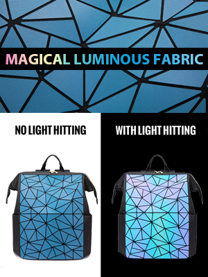 Geometric Luminous backpack for women