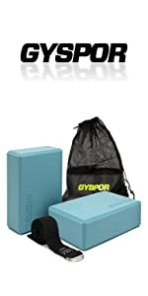 yoga blocks 2 pack with strap teal blue