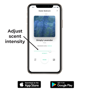 The pura app allows you to set the fragrance intensity