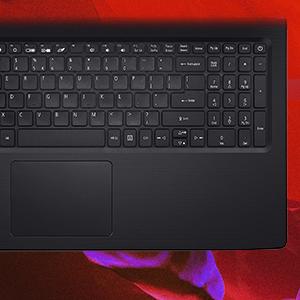 Acer Aspire 3 Notebook 15.6 HD Ryzen 5 2500U Windows 10 Pro keyboard numeric keypad multi touchpad