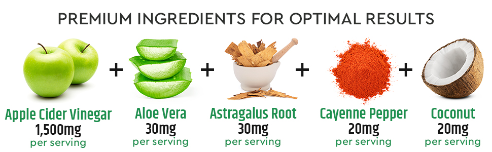 Organic Apple Cider Vinegar Capsules 100% Natural ACV Diet Pills, Weight Loss Appetite Suppressant