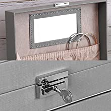 jewelry box mirror lockable