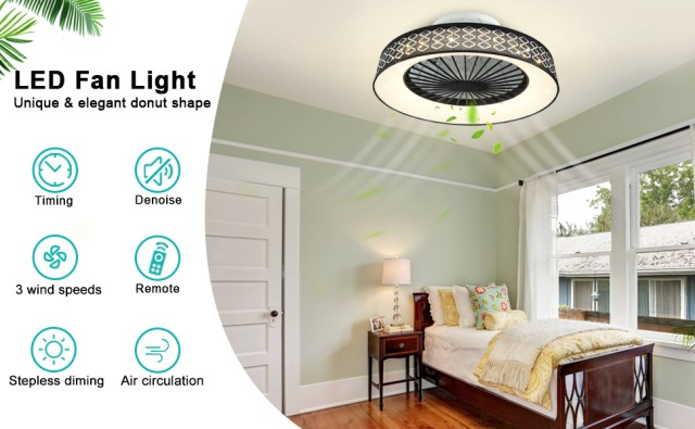 LED light with Fan