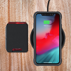 iPhone 11 Pro Max Wallet Case Removable Card Holder Pocket Slot for Wireless Charging Compatible