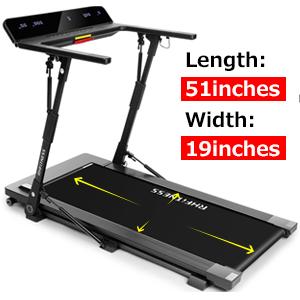Wide Tread Belt Foldable Treadmill