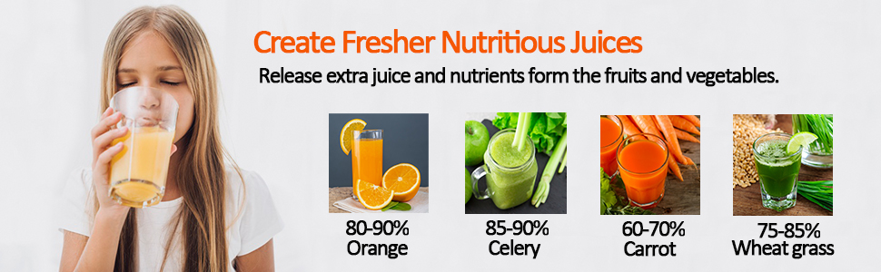 nutritious juices